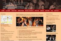 Screenshot of the new Cat's Corner Website